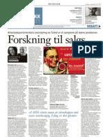 Forskning til salgs - KK-Kronikk 1.12.2010