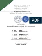 Marco logico_PROGRAMA DE AGUA POTABLE Y SANEAMIENTO PARA EL DESARROLLO HUMANO (FASE I) (1)