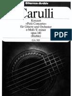 Carulli - Petit concerto per chitarra opus 140
