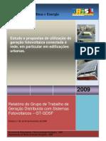 Estudo e propostas de utilização de geração fotovoltaica conectada à rede, em particular em edificações