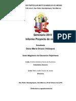 INDICE Y ORDEN DEL PROYECTO DE VIDA CESS 2020.