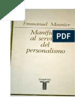 Mounier Emmanuel - Manifiesto Al Servicio Del Personalismo.pdf