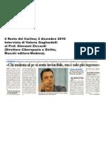 Intervista Prof. Giovanni Ziccardi sul RestodelCarlino
