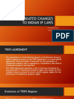 TRIPS MANDATED CHANGES TO INDIAN IP LAWS
