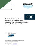Audit de l'Infrastructure Microsoft Active Directory (Domaine SG) Et ...