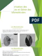 Biomolecules] Valorisation des ressources et Génie des biomolécules