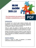 2DO TALLER DE INTEGRACIÓN
