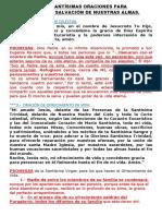 LAS 33  ORACIONES y PROMESAS  PARA ALCANZAR LA SALVACIÓN