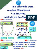 Nueva Fórmula Cuadrática-Metodo de Po-Shen Loh