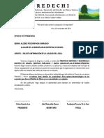 OFICIO AL ALCALDE Y PRESIDENTE DE LA COMUNIDAD