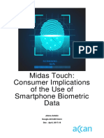 Midas Touch Consumer Implications of the Use of Smartphone Biometric Data