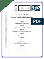 Condicion y manejo del hidrocarburo cp.1