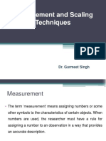 Measurement and Scaling Techniques
