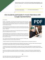 asu students participate in mock interviews with google representative