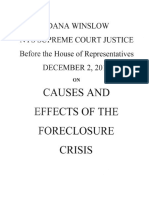 Foreclosed Justice Written Testimony of F. Dana Winslow