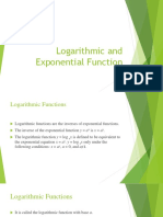 Logarithmic and Exponential Function