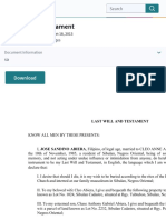 Last Will and Testament | Will And Testament | Property Law.pdf