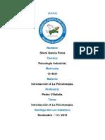 Introduccion A La Psicoterapia. Primera Trea. Sileni Garcia. (Autoguardado) (Autoguardado).docx
