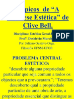 Tópicos  de A Hipótese Estética de Clive Bell