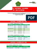 Revisi Jadwal UAMBN 2019-2020