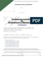 Sexta entrega de problemas resueltos de disoluciones y diluciones - Blog de Laboratorio Clínico y Biomédico