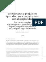 Estereotipos y prejuicios que afectan a las personas con discapacidad