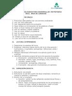 Ejemplos de habilidades área español primaria