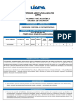 EDU-416 Expresión Corporal Y Psicomotricidad con etapas bien definidas.