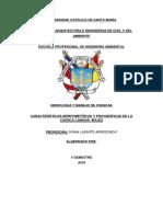 Características Morfometrícas y Fisiográficas de La Cuenca Camaná- Majes