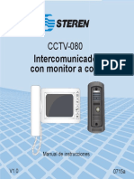 CCTV-080 Intercomunicador con monitor a color