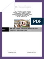 Proyecto Asignatura Regional Multigrado