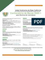 Convocatoria becas licenciatura 2020-1