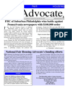 National Fair Housing Advocate - September 1999