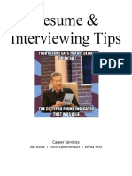resume   interviewing tips