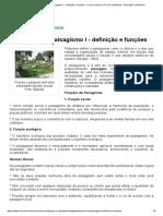 Introdução ao Paisagismo I - definição e funções - Cursos Online UOV com Certificado - Educação a Distância