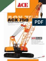 Crawler Crane ACX750
