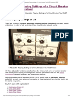 6 Adjustable Tripping Settings of a Circuit Breaker You MUST Understand _ EEP