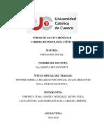 Informe de Psicología Social