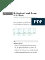 Bird Academy's A-to-Z Glossary of Bird Terms | Bird Academy • The Cornell Lab.pdf