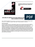 Bike Fit Optimise Your Bike Position