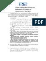 Edital n° 64 seleção de professores