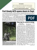 Ft. Greely Interceptor - August 2008