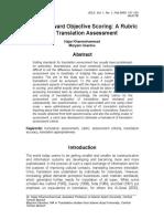 Translation rubric