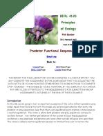 Holling 3 Types Functional Response