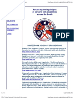 SDLC list of national Protection and Advocacy Centers for people with disabilities