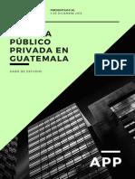 Caso de Estudio Alianza Publico Privadas en Guatemala  APP- SABRINA GOMEZ