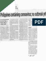 Business World, Feb. 4, 2020, Philippines containing coronavirus no outbreak yet.pdf
