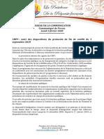 Communiqué - Point sur situation personnel CHPF