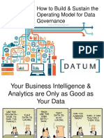 How To Build and Sustain Data Governance Operating Model