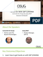 ASUG82229 - Getting Hands-On Experience with SAP S4HANA